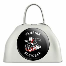 Vampire Sleigher Slayer Funny Humor White Metal Cowbell Cow Bell Instrument