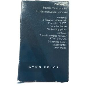 """Avon Nailwear  French Minicure Kit - French Tip White """" New In Box Old Stock"""