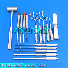 20 Pcs Premium Osteotomes Straight Curved Tip, Mallet, Chisels Dental Sinus Lift