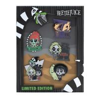 Loungefly SDCC 2020 Beetlejuice Limited Edition LE 600 5 Enamel Pin Set Com New