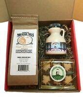 Vermont Maple Gift Box-  Jug of Grade A Maple Syrup, Pancake Mix, Maple Treats
