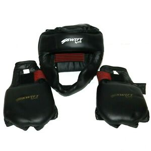 SWIFT HELMET BY MTI MARTIAL ARTS LARGE SIZE WITH GLOVES