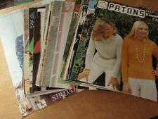 Job Lot of 40 Vintage Adult's Knitting patterns/booklets - Sirdar, Munrospun etc