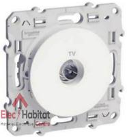 Prise TV simple mâle Schneider Odace blanc S520445