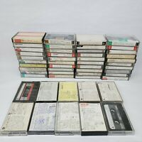 Lot 50 Cassette Tapes Pre-recorded Sold as Used Blanks - TDK MAXELL Others Blank