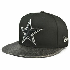 New Era 59Fifty Dallas Cowboys NFL Snakeskin Bill Hat Black Men's Fitted 7 1/2