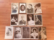 Collection of 30 Vintage Actors and Actresses Postcards Stage and Screen Stars