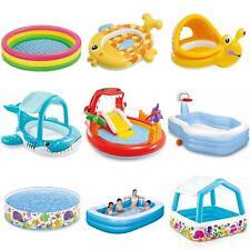 More details for kids children inflatable paddling pool set garden water splash fun cool down