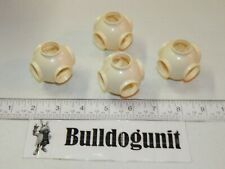 Vintage Tomy Popoids Colossal Cosmic Set 4 White Round Pod Connectors Parts Only