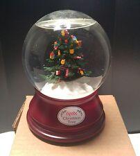 2001 Spode Christmas Tree San Francisco Co Music Box Rotating Plays O Tannenbaum