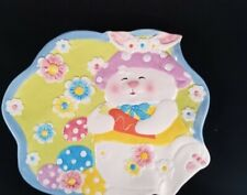 Chang Song Easter Bunny Rabbit Serving Tray Candy Cupcakes party egg hunt
