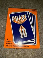 PHASE 10 CARD GAME by FUNDEX 1986 VINTAGE COMPLETE RUMMY WITH A TWIST