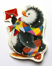 4 Self Adhesive Stick On 3D Christmas Penguin & Letter Embellishment Card Craft