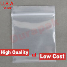 1000 ~ 4 Mil 4x8 Clear Zip Reclosable Zipper Lock Seal Poly Bag Parts Packaging