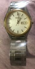 SEIKO Large Silver/Gold Tone Watch #7N43-9048
