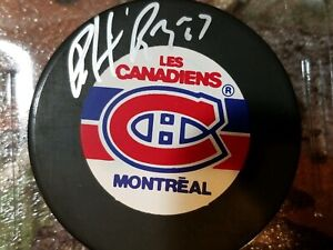 NHL HALL OF FAMER  PATRICK ROY MONTREAL CANADIENS AUTOGRAPHED PUCK W/COA silver
