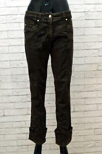 Jeans Donna Trussardi Taglia 48 Pantaloni Pants Woman Denim Pantalon Elastico