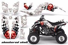 AMR Racing Yamaha Raptor660 Graphic Kit Wrap Quad Decals ATV 2001-2005 CHKRD RED