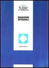 EQUAZIONI INTEGRALI  (libro di analisi funzionale di analisi matematica)