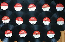 """Lot of 14x CAPITOL 16"""" TRANSCRIPTION DISCS~All Pictured~Many Rare & Unknown! #8"""