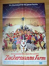 Filmposter * Kinoplakat * A1 * Zuckermanns Farm - Wilbur im Glück * EA 1973 * A