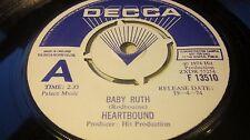 HEARTBOUND – Baby Ruth / Sailor Man DECCA PROMO/DEMO WHITE/BLUE LABEL EX- wax