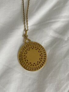 links of london necklace, yellow gold, 27-29 Inches