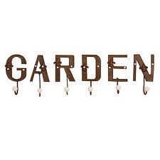 """""""Letras Gancho Garden"""" 6 SOLO HIERRO FUNDIDO de la pared para ropa"""