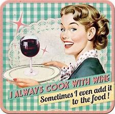 Nostalgic-Art 46121 Say It 50's Cook With Wine Untersetzer