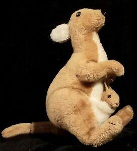 Vintage 1975 Dakin Kangaroo & Joey Plush Stuffed Animal