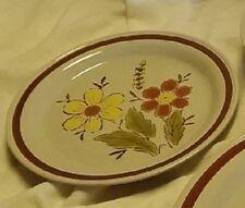 Vintage Autumn Collection Stoneware Wheat Flower ONE PIECE Salad Dessert Plate