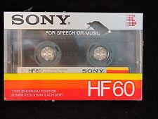 SONY HF60 Audio Cassette Tape type I Medium Bias NEW SEALED 60 minutes