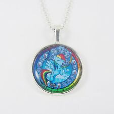 RAINBOW DASH NECKLACE my little pony cute retro kitsch stained glass bronie