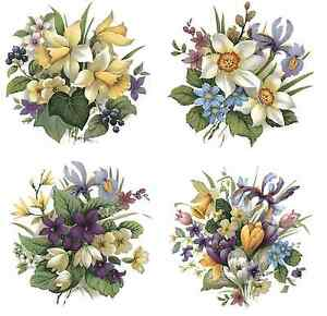 Spring Bouquet Flower Select-A-Size Ceramic Waterslide Decals Bx