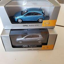 Opel Astra H GTC Breeze Blue + Signum 1:43