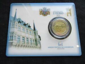 2 Euro Commémorative Coincard Bu Luxembourg 2012 Guillaume IV