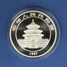 1997 China 1oz Silver Panda 10 Yuan coin in Capsule with COA
