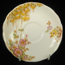 Colclough Pink/Purple/Yellow Flowers Orphan Saucer #6591
