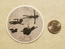 Round Peter Pan Flying Sticker Decal