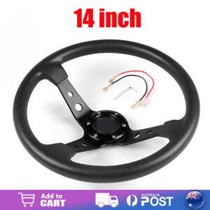14 inch 350mm Racing Steering Wheel Deep Corn Dish Sport Drifting Universal