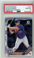 2019 Bowman Chrome Prospects Pete Alonso #127 PSA 10 New York Mets