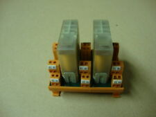 Multivac Din Rail Mounted Kaco Relay Base with 2 Relays -  # 85.636.0450.17