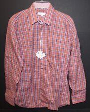 Jared Lang Mens Pink Purple Checks Button-Front Dress Shirt NWT $190 Size L