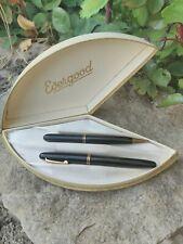 2 stylos : critérium et stylo plume or Evergood parure boite coffret d'origine