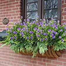 4 Paquete Flores Artificiales Falso Exterior UV Resistente Planta Plástico con