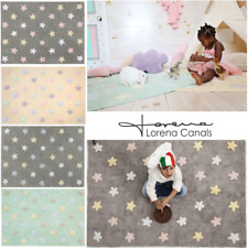 Lorena Canals Machine Washable Rug Tricolor Stars Children's Room Cotton