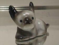 Vintage Tiny Miniature Porcelain Ceramic Boston Terrier Dog Figurine