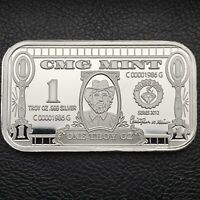 Easy Money CMG Mint 1 oz .999 Fine Silver Art Bar #79 of 99 Minted (9288)