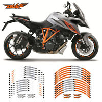 "MOTORCYCLE RIM ""17 STRIPES WHEEL DECALS STICKERS FOR KTM DUKE"