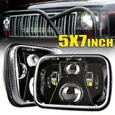 2x 7x6'' 5x7'' Led Headlights Hi/Lo Sealed Beam For Jeep Cherokee XJ 1984~2001